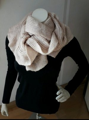 Blind Date Knitted Scarf natural white mixture fibre