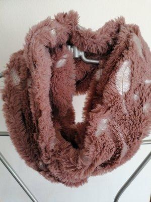 Écharpe ronde argenté-vieux rose