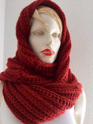 Key Largo Écharpe tube rouge foncé-rouge carmin tissu mixte