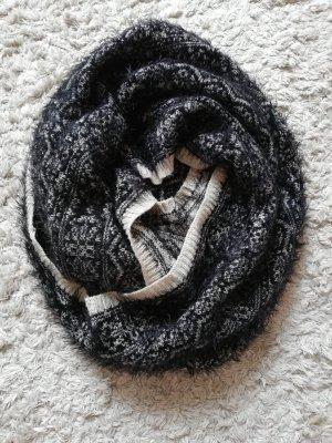 H&M Tube Scarf white-black