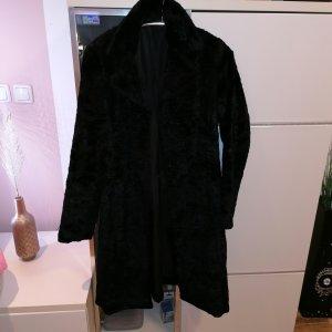 Oui Geklede jurk zwart