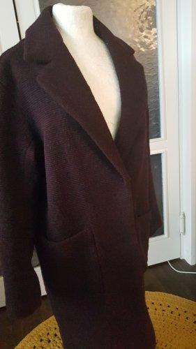 H&M L.O.G.G. Abrigo de lana rojo amarronado-burdeos
