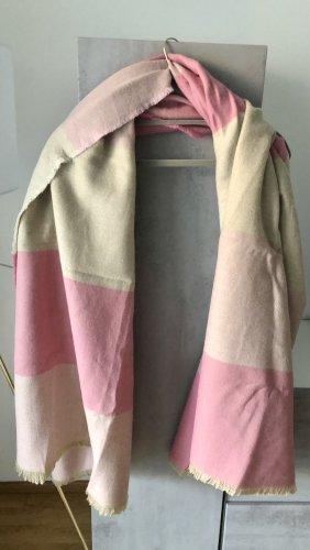 Kuscheliger Maxi Schal beige rosa