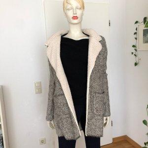 Anna Field Wełniany płaszcz Wielokolorowy Tkanina z mieszanych włókien