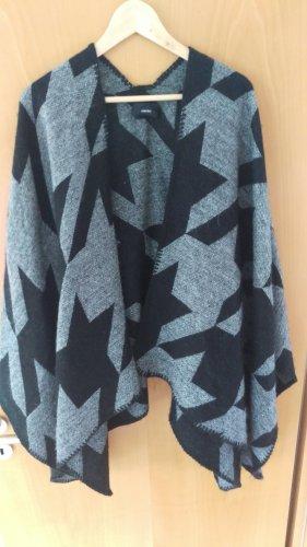 Poncho noir-argenté