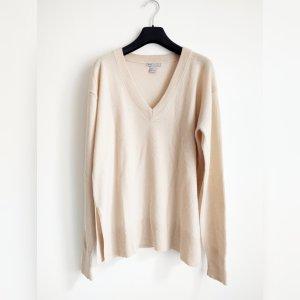 H&M Premium V-Neck Sweater cream-oatmeal