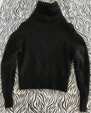 Acne Jersey de lana negro tejido mezclado