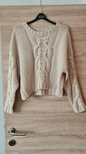 Devided von H&M Maglione intrecciato bianco sporco