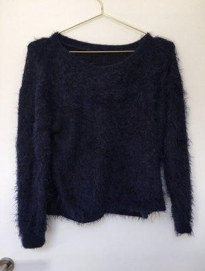 H&M Jersey de cuello redondo azul oscuro