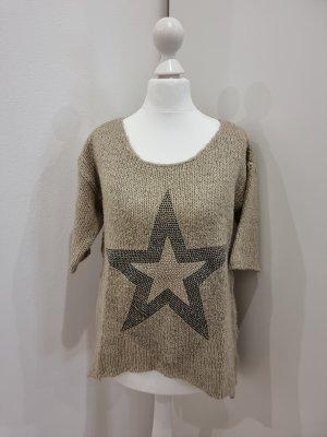 Kuscheliger Pullover | Schmucksteine Stern ⭐ | 3/4 Ärmel