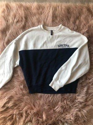 Kuscheliger Pullover weiß/blau XS