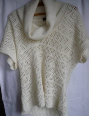 Vintage Short Sleeve Sweater white