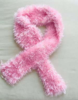 Knitted Scarf light pink-natural white