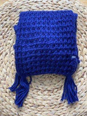 Cecil Écharpe en tricot bleu foncé-bleu acrylique