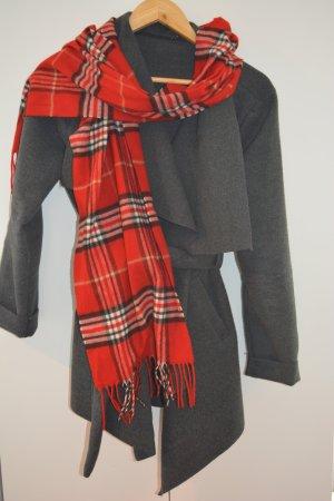 Écharpe à franges rouge brique acrylique