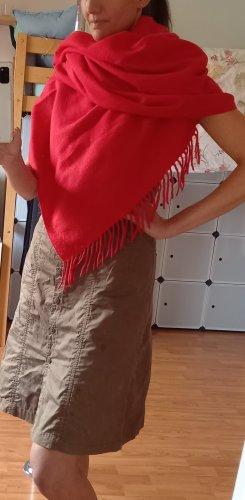 Bijou Brigitte Bufanda de flecos rojo Poliéster