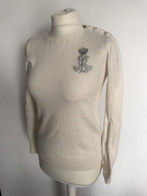 60/% khujo Damen Pullover VELVET weißer Strick mit Zopmuster und Rollkragen SALE