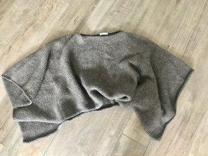 Stefanel Poncho en tricot gris brun laine