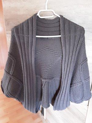 okay Bolero lavorato a maglia grigio scuro