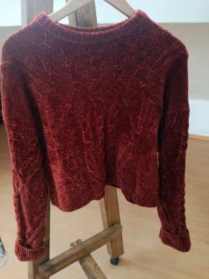 Topshop Knitted Sweater salmon-bright red