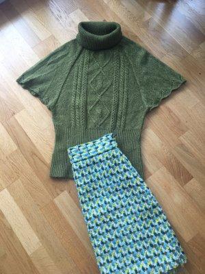 Orsay Jersey trenzado verde oliva mohair