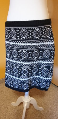 C&A Yessica Knitted Skirt black-white