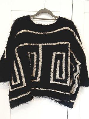 Sweewe Oversized Sweater black-natural white