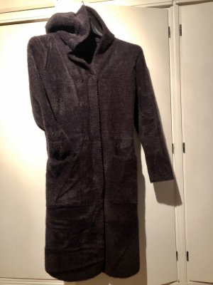 Hooded Coat brown violet