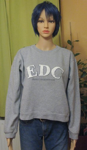edc by Esprit Sweat Shirt grey-light grey cotton