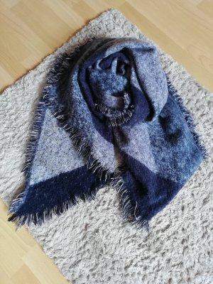 H&M Bufanda de lana gris-azul