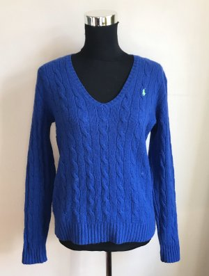 Polo Ralph Lauren Wool Sweater blue-cornflower blue merino wool