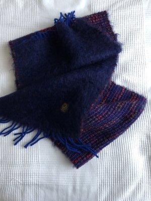 Wełniany szalik niebieski-ciemny fiolet