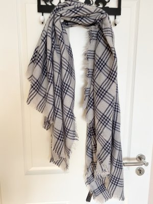 Zara Knitted Scarf light grey-dark blue