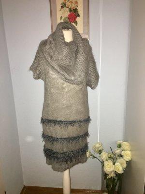 Kuscheliges graues Tunika-Kleid mit Mohair
