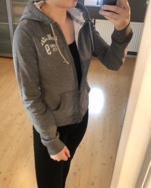 Hollister Sweat Jacket grey-white