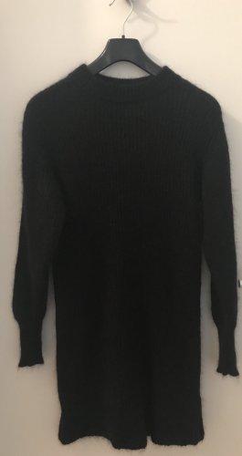 Kuscheliges, lässiges schwarzes Wollkleid von Joseph Janard