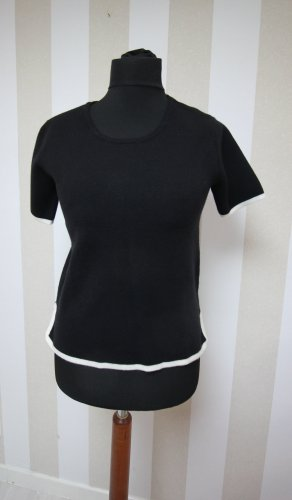 Zara Camiseta blanco-negro