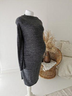 Vestido de lana gris antracita