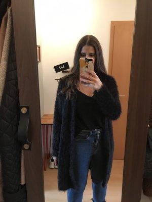 Mango Manteau en tricot noir