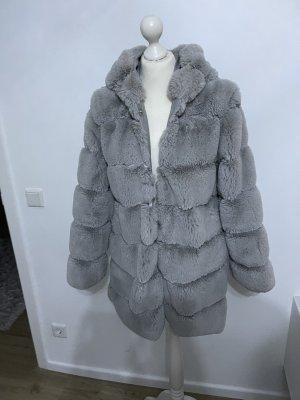 keine Abrigo con capucha gris claro-gris