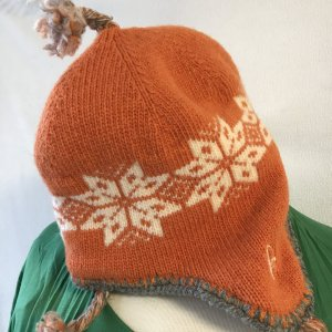 Conte of Florence Knitted Hat multicolored wool