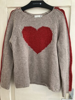 Rich & Royal Coarse Knitted Sweater beige-red
