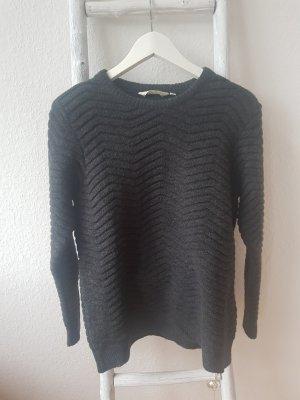 Basic Apparel Sweter z grubej dzianiny ciemnoszary