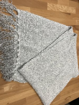 keine Marke Sciarpa di lana argento-bianco