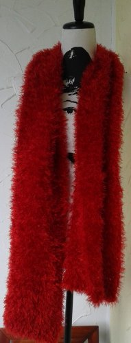 Fringed Scarf red