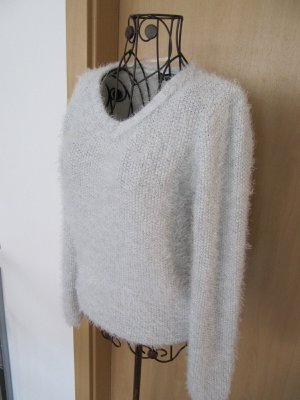Colors of the world V-Neck Sweater silver-colored-light grey polyester