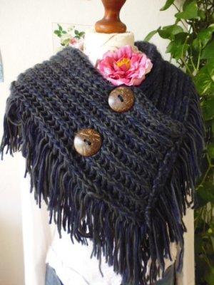 girasole Écharpe en tricot multicolore laine