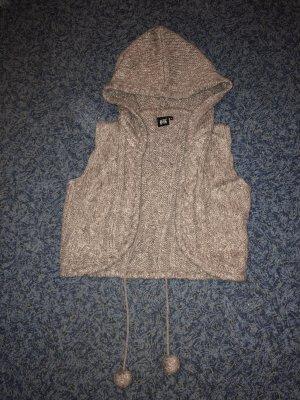Hooded Vest beige