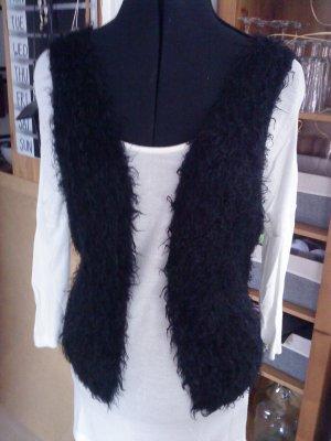 Lindsay Moda Kamizelka ze sztucznym futrem czarny