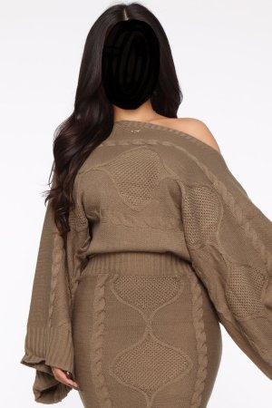 Kuschlig, süßes Winter-Strick-Set, Strickkleid, sweater set, neu, USA, S/M